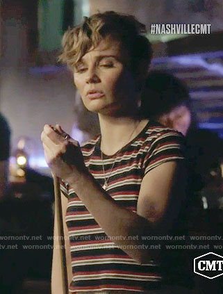 Scarlett's striped tee on Nashville