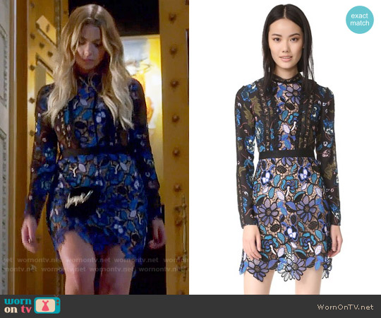 Self Portrait Maxine Dress worn by Hanna Marin (Ashley Benson) on PLL