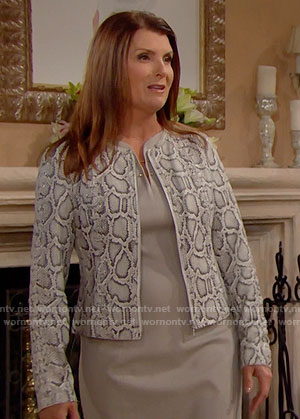 Sheila's snake print jacket on The Bold and the Beautiful