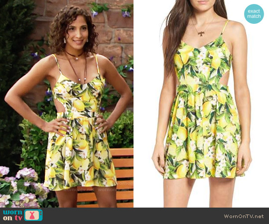 Show Me Your Mumu Piper Dress in Lemon Print worn by Lily Winters (Christel Khalil) on The Young & the Restless
