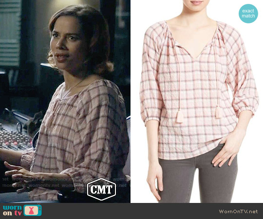 Soft Joie Legaspi Plaid Top worn by Rhiannon Giddens on Nashville