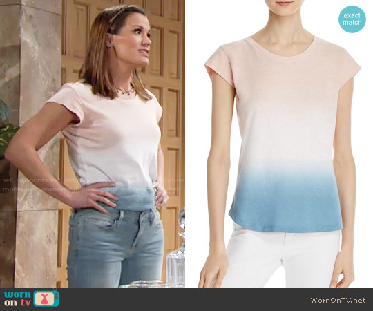 Soft Joie Dillon Ombre Tee worn by Chelsea Lawson (Melissa Claire Egan) on The Young & the Restless