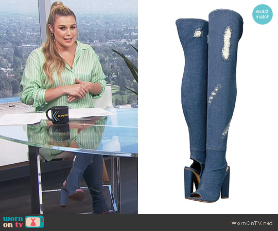 Steve Madden Tonic Boots worn by Carissa Loethen Culiner on E! News