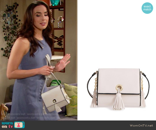 Street Level Convertible Faux Leather Crossbody Bag worn by Ivy Forrester on The Bold & the Beautiful