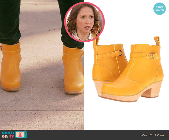 Swedish Hasbeens Jodhpur Boots in Yellow worn by Kimmy Schmidt on Unbreakable Kimmy Schmidt