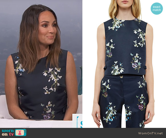 Ted Baker Samsa Entangled Enchantment Top worn by Catt Sadler on E! News