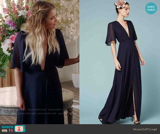 The Reformation Catalina Dress worn by Hanna Marin (Ashley Benson) on PLL
