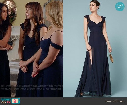 Reformation Julieta Dress worn by Spencer Hastings (Troian Bellisario) on PLL