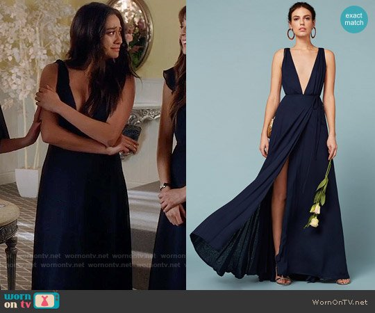 The Reformation Sophia Dress worn by Shay Mitchell on PLL