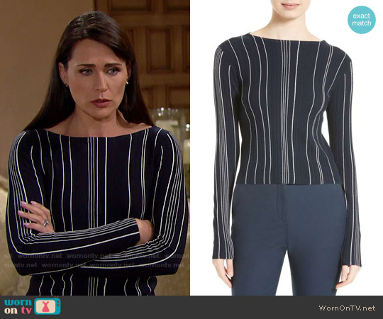 Theory Hankson Sweater worn by Rena Sofer on The Bold & the Beautiful