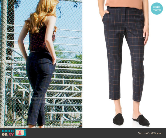 Theory Treeca Pants worn by Paige Townsen on Famous in Love