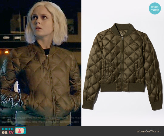 TNA League Bomber worn by Rose McIver on iZombie