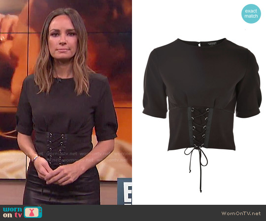 Topshop Corset T-shirt worn by Catt Sadler on E! News