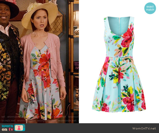 Trina Turk Aniya Dress worn by Ellie Kemper on Unbreakable Kimmy Schmidt