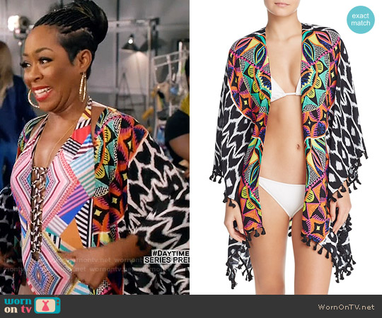 Trina Turk African Kimono Swim Cover-Up worn by Mo Evans on Daytime Divas