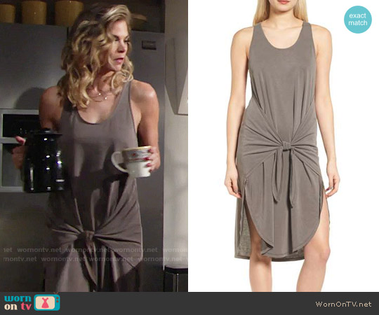 Trouve Tie Front Knit Dress worn by Gina Tognoni on The Young & the Restless