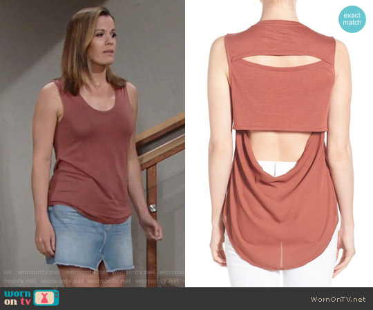 Trouve Cutout Drape Back Tank worn by Chelsea Lawson (Melissa Claire Egan) on The Young & the Restless