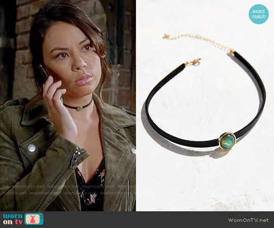 Urban Outfitters Alix Opal Choker Necklace worn by Mona Vanderwaal on PLL