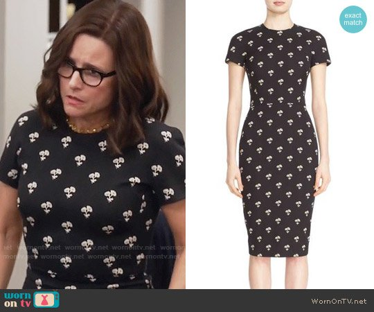 Victoria Beckham Daisy Jacquard Dress worn by Julia Louis-Dreyfus on Veep