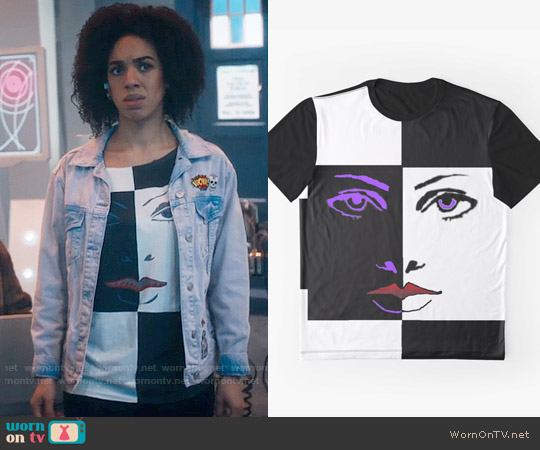 Prince Graphic Face Tee worn by Bill Potts (Pearl Mackie) on Doctor Who