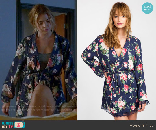 Wildfox Gypsy Rose Robe worn by Ashley Benson on PLL