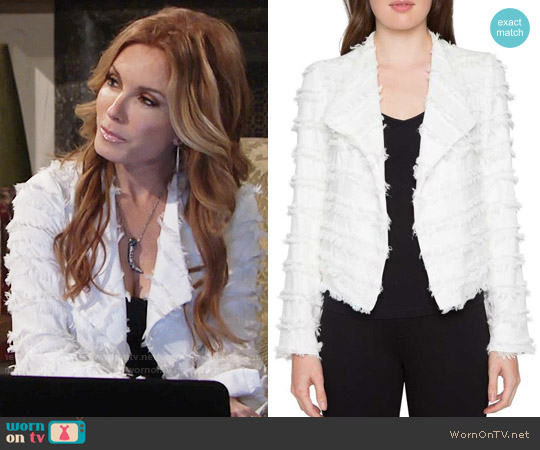 Willow & Clay Textured Jacket worn by Tracey Bregman on The Young & the Restless