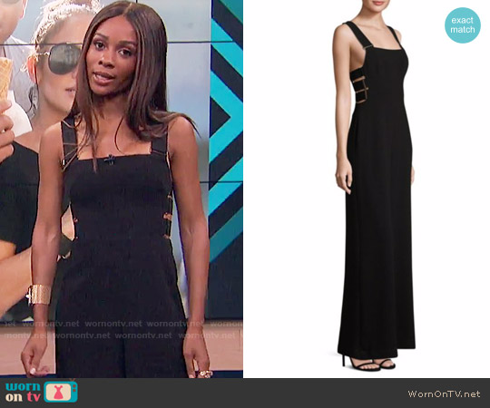 Zimmermann Stretch Crepe Buckle Jumpsuit worn by Zuri Hall on E! News