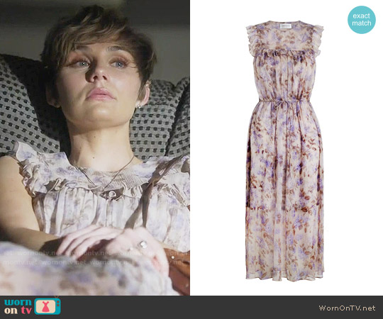 Zimmermann Stranded Bib Dress worn by Clare Bowen on Nashville