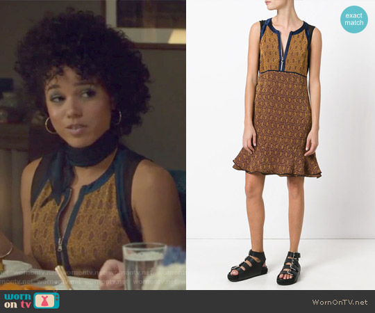 Damask Print Dress by 3.1 Phillip Lim worn by Maia Roberts (Alisha Wainwright ) on Shadowhunters