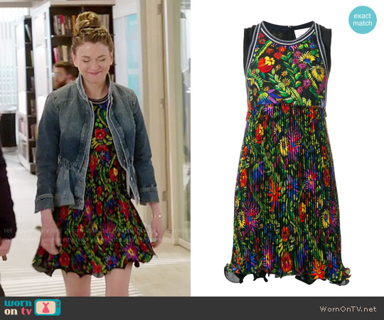 3.1 Phillip Lim Floral Pleated Dress worn by Sutton Foster on Younger