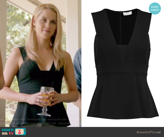 'Leigh' Crepe Top by A.L.C worn by Rebekah (Claire Holt) on The Originals