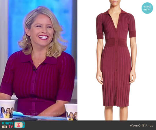 Olivia Short-Sleeve Knit Polo Dress by Altuzarra worn by Sara Haines  on The View