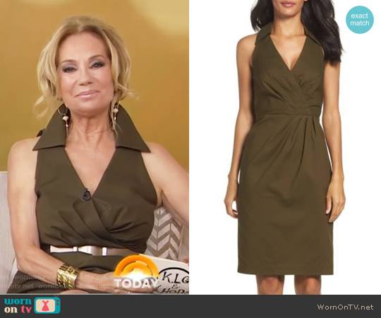 Sleeveless Shirtdress by Adrianna Papell worn by Kathie Lee Gifford on Today