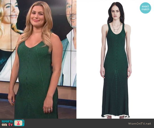 Sleeveless Ribbed Maxi Dress by Alexander Wang worn by Carissa Loethen Culiner on E! News
