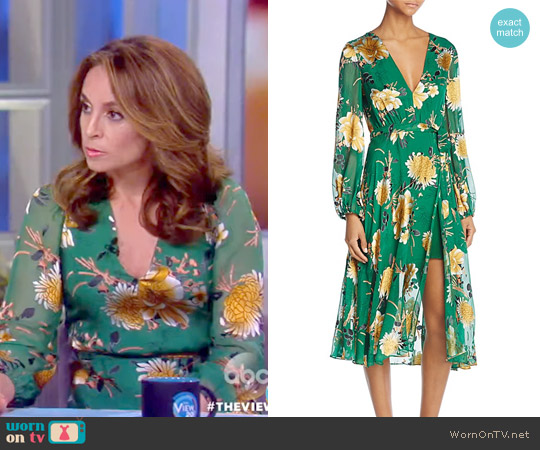 'Coco' Faux-Wrap Dress by Alice + Olivia worn by Jedediah Bila  on The View