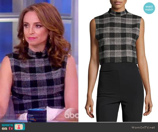 Garland Sleeveless Mock-Neck Top by Alice + Olivia worn by Jedediah Bila on The View