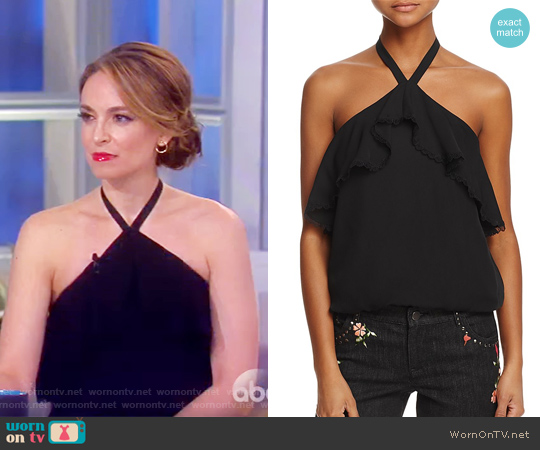 Monet Ruffled Silk Halter Top by Alice + Olivia worn by Jedediah Bila on The View