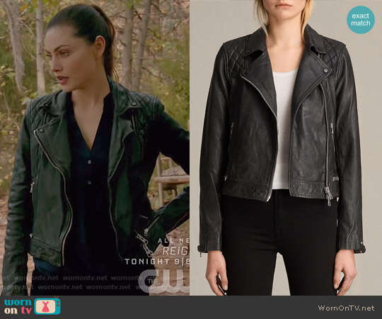 Conroy Biker Jacket by All Saints worn by Hayley (Phoebe Tonkin) on The Originals