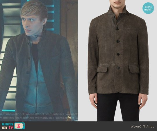 Felton Suede Blazer by All Saints worn by William Tudor on Shadowhunters