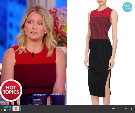 'Mariana' Ribbed Colorblock Sheath Dress by Altuzarra worn by Sara Haines  on The View