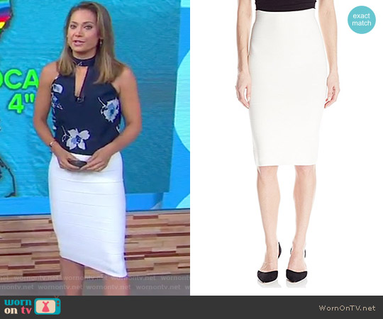 Leger Mid-Length Pencil Skirt by Bcbgmaxazria worn by Ginger Zee on Good Morning America