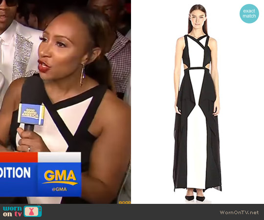 'Alyssia' Woven Evening Gown by Bcbgmaxazria worn by Mara Schiavocampo on Good Morning America