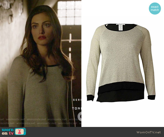 Layered Sweater by Bar III worn by Phoebe Tonkin on The Originals