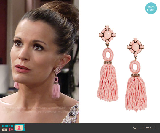 Baublebar Sohvi Earrings in Pink worn by Chelsea Lawson on The Young & the Restless
