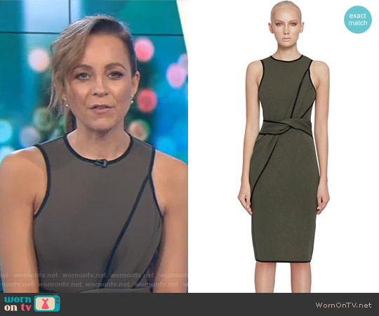 Army Twist Tunic Dress by By Johnny. worn by Carrie Bickmore  on The Project