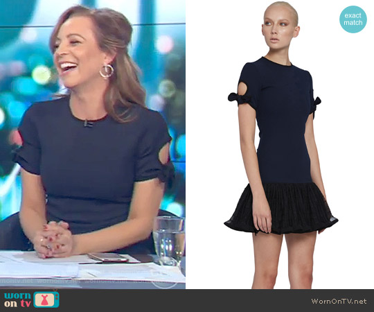 The Belinda Tie Sleeve Tee Mini Dress by By Johnny. worn by Carrie Bickmore on The Project