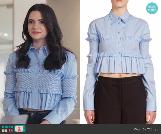 Cédric Charlier Smocked Cropped Top worn by Jane Sloan (Katie Stevens) on The Bold Type