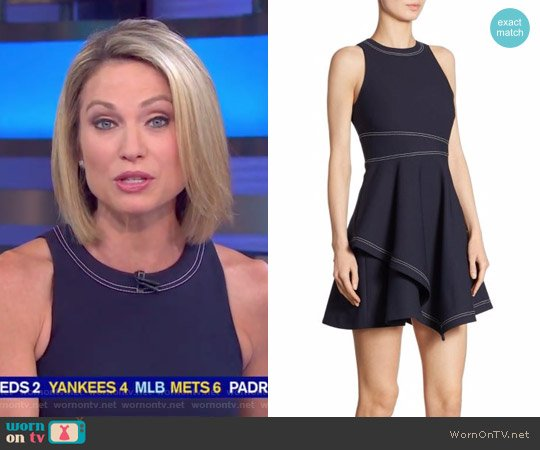 'Lyla' Fit & Flare Dress by Cinq a Sept worn by Amy Robach (Amy Robach) on Good Morning America