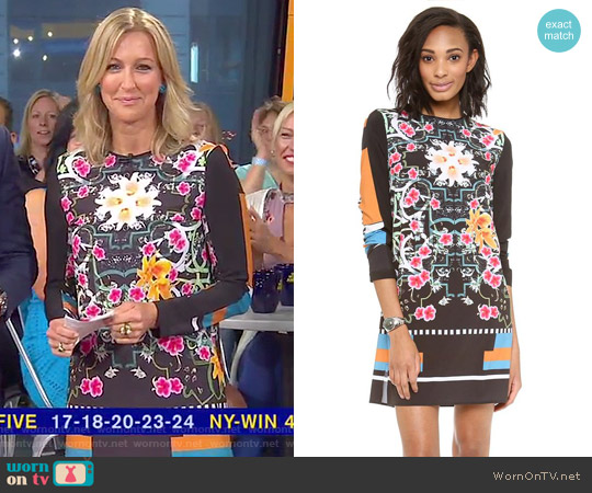 Cuba Scarf Shift Dress by Clover Canyon worn by Lara Spencer  on Good Morning America