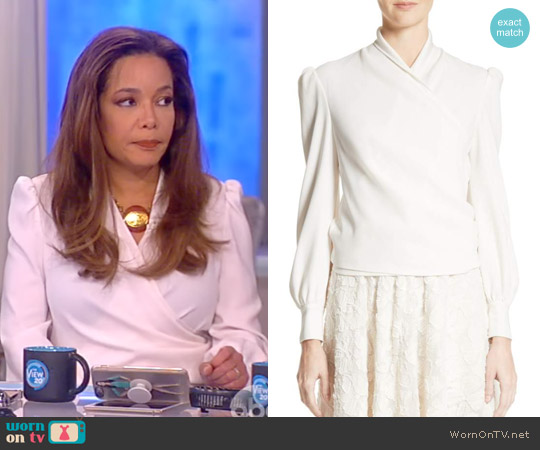 Crepe Wrap Blouse by Co worn by Sunny Hostin on The View